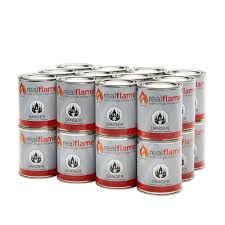 Indoor Gel Fireplace by Real Flame 13 Oz 24 Lb Gel Fuel Cans 24 Pack 2101 The Home Depot