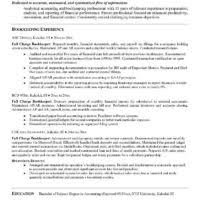 Resume For Bookkeeper Professional Full Charge Bookkeeper Resume Sample Featuring