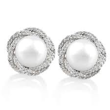 pearl diamond earrings diamond halo nest and pearl earrings diamond earrings