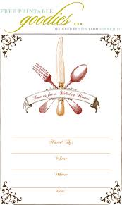 Dinner Party Invitations Sample Menu Card For Dinner Party Pacq Co