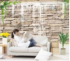 online get cheap brick wall pictures aliexpress com alibaba group customized wallpaper for walls mural 3d wallpaper background wall waterfall decorative brick wall living 3d wallpaper