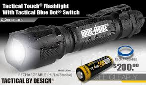 tac light flash light 600 lumen rechargeable tactical blue dot hi lo strobe brite