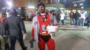 spirit halloween cleveland fans dressed up in halloween costumes during the world series and
