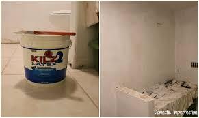 Bathroom Primer Birthing A Stenciled Bathroom Domestic Imperfection
