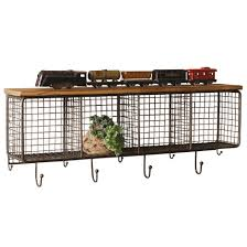 industrial wall shelving industrial modern cage wall cubbies and top shelf woodwaves