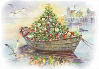 Nautical Themed Christmas Cards - business christmas cards