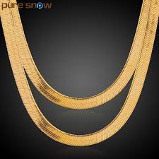 gold necklace styles images 2018 pure snow multiple styles mens boys chain herringbone snake jpg