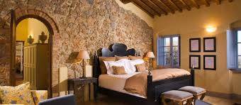 tuscan yellow lovely yellow painted tuscan bedroom interior with stone wall and