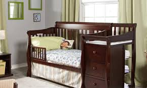 table rare child craft crib with attached changing table