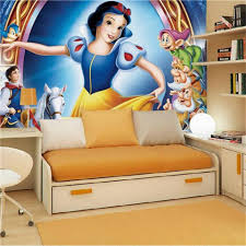 popular snow white wallpaper buy cheap snow white wallpaper lots 3d photo wallpaper custom mural kids room snow white and the seven dwarfs 3d painting background