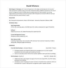 resume entry level objective front end developer resume entry level front end web developer