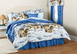Wolf Bedding Set Midnight Wolves Wolf Comforter King Comforter