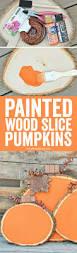 halloween plaques painted wood slice pumpkins a night owl blog