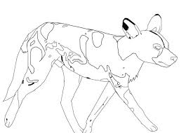 print this african wild dog color page more animal coloring pages