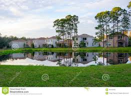 Small Lake House by House At A Small Lake With Reflection Stock Photo Image 49418645