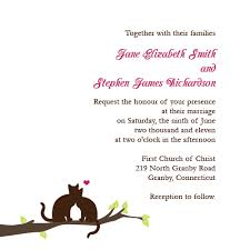 free wedding invitation template with cats on branch designs