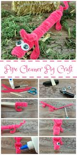 pipe cleaner pig kids craft domestic mommyhood