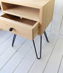 Metal Nightstands With Drawers Bedside Table With Metal Legs Ald 0009 Aliusydecor
