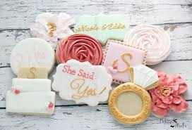 bridal brunch favors floral she said yes cookies 2 dozen bridal brunch cookies