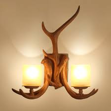 Retro Wall Sconces Sconce Deer Antler Wall Candle Holders 1 Light Cast Antler Wall