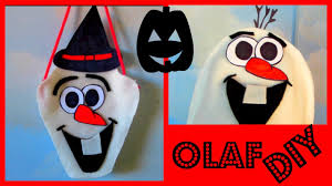 halloween trick or treat bags to make no sew olaf trick or treat bag hat halloween diy i