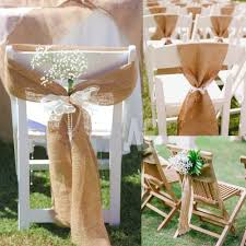 burlap chair sashes aliexpress buy 7 108 naturally burlap chair sashes
