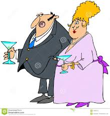 couple at a cocktail party royalty free stock images image