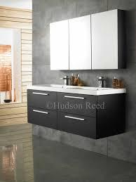 Hudson Reed Bathroom Furniture Hudson Reed Quartet Basin And Cabinet Black Wood 1440mm