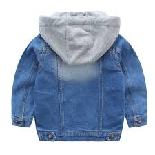 kids toddler denim jacket with hood coat cowboy hoo