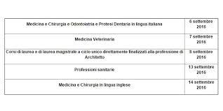 test ingresso veterinaria test d accesso alle universit罌 tutte le date si parte con i