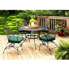 Iron Patio Table With Umbrella Hole by Patio Ideas Patio Furniture Lowes Conversation Sets Patio