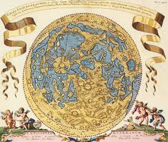 Ancient Map Ancient Map Tabula Selenographica Hemifphaerio Dated 1696