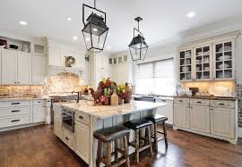Faux Brick Backsplash Kitchen Transitional With Casual Elegance
