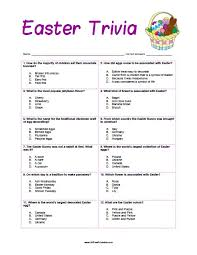 easter facts trivia easter trivia free printable allfreeprintable com