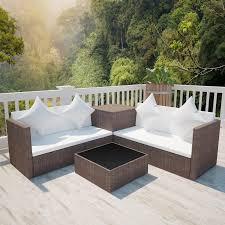 canapé tressé stunning salon de jardin canape d angle resine tressee noir tropical