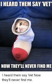 Vet Memes - heard them say vet now they ll never find me meme centercom i