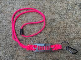 jeep pink jeep grille paracord lanyard in pink with carabiner clip
