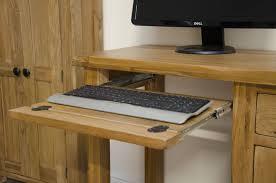 Oak Computer Desks Uk Tilson Solid Rustic Oak Furniture Small Computer Desk