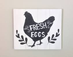 Chicken Home Decor by Chicken Sign Fresh Eggs Sign Hen Sign Wood Sign Cottage Chic Decor