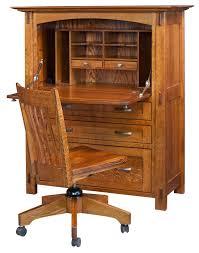 Secretary Desk Hutch by Mayan Solid Wood Secretary Desk Countryside Amish Furniture