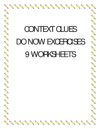 context clues do now exercises betterlesson cool stuff