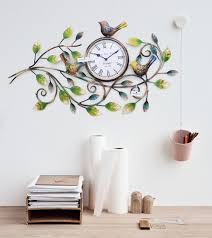 Decorative Wall Clock Iron Handmade Beautiful Bird Wall Clock Decorative Natural Theme