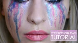 Unicorn Makeup Halloween by Watercolour Rainbow Tears Halloween Tutorial Katie Snooks Youtube