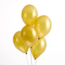 metallic balloons pack of 25 gold metallic balloons