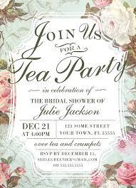 tea party bridal shower invitations tea party invitation 5193 plus floral bridal shower tea party