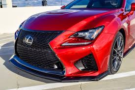 red lexus 2015 carbon fiber front splitter