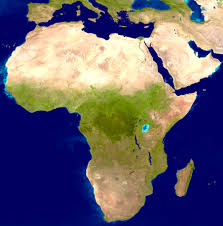 Africa On Map by Satellite Image Photo Of Africa