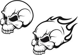 cooltop trends flaming skull design idea