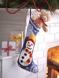 bernat snowman stocking knit pattern yarnspirations
