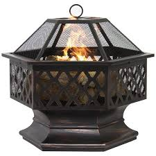 Firepit Bowl Best Choice Products Bcp Hex Shaped Pit Outdoor Home Garden